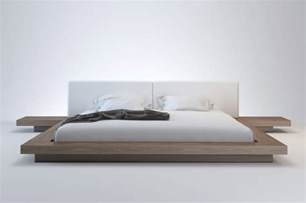 Floating Bed by Simple Floating Platform Bed On The Wooden Bunk Quin Size