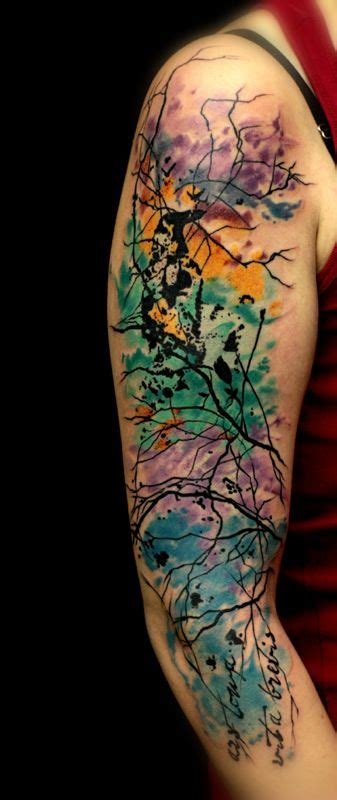 abstract watercolor tattoo sleeve 9 abstract tattoos on half sleeve