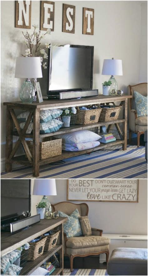 home decor stands give your media center a diy makeover with these 10