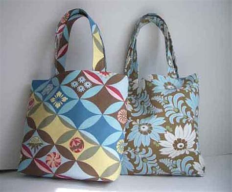 Fabric Handmade Purses - handmade medium tote bags with butler fabric and linen