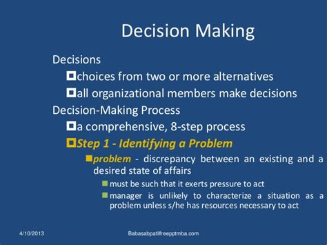 Decision Notes For Mba by Decision Ppt On Management Behavioural Process Mba