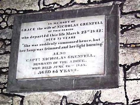 Grenfell Record Notices Monumental Inscriptions Of Grenfell Family Members In St Just In Penwith Church Cornwall