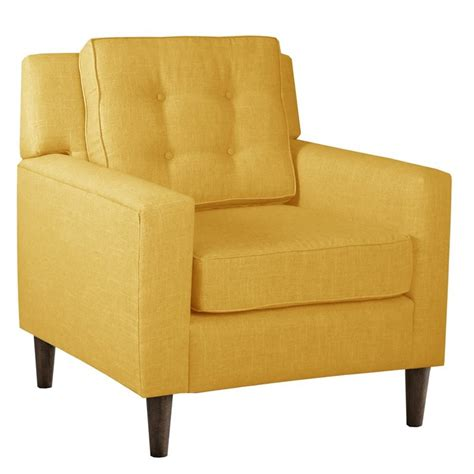 Arm Chair Skyline Fabric Club Arm Chair In Yellow 524246