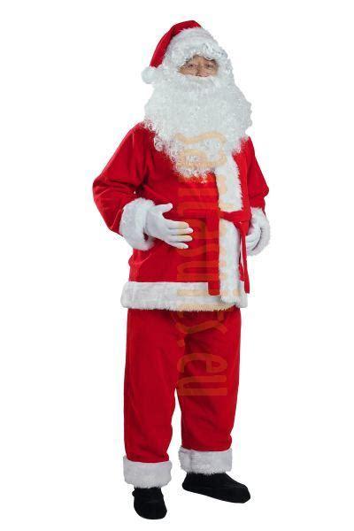 fleece santa suit set 3 parts santa suits