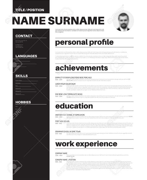 graphics design layout sle 7 best resume design images on pinterest resume