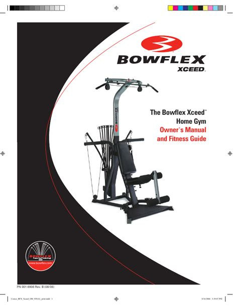 bowflex power pro xtl manual book covers