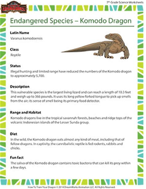 printable endangered animal fact sheets fun science worksheets middle school lesupercoin