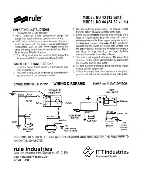rule bilge switch wiring diagram boat electronics