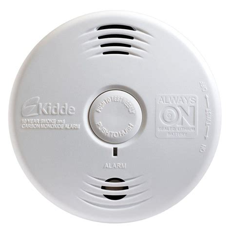 10 Year Smoke And Carbon Monoxide Detector - kidde worry free 10 year sealed lithium battery smoke and