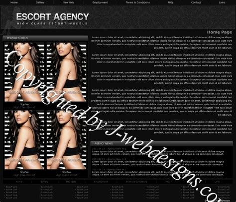 templates for escort agency websites