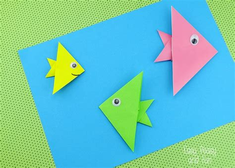 Origami For Kindergarteners - easy origami fish origami for easy peasy and