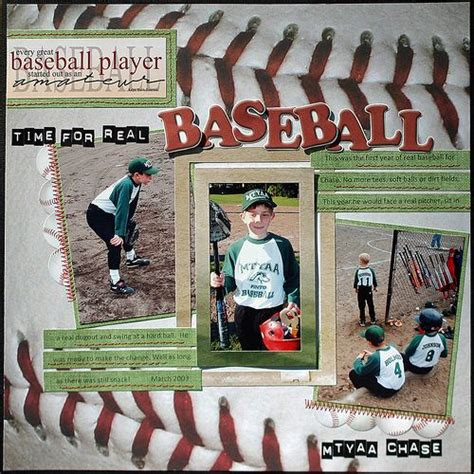 scrapbook layout baseball sport layouts for scrapbooking the holmes crew march