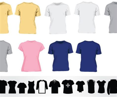 Baju Icon White 41 blank t shirt vector templates free to