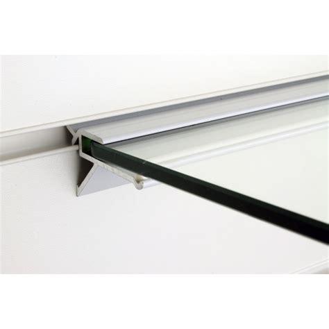 Brackets For Floating Shelf by 2x Slatwall Glass Floating Shelf Bracket Aluminium