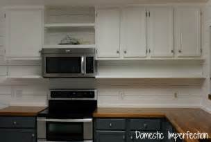 Open Shelves Under Cabinets by Open Kitchen Shelving Domestic Imperfection