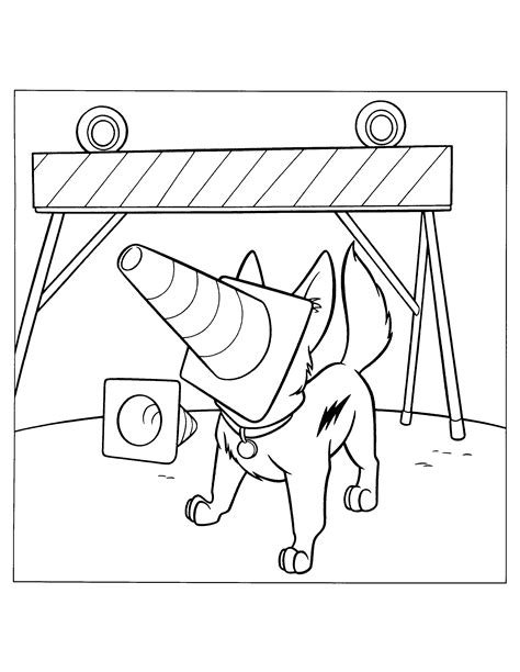 coloring pages of bolt the bolt coloring pages coloringpages1001