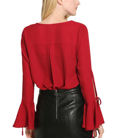 Unique Shirts Alisapan S Unique Sleeve Casual Top Blouse