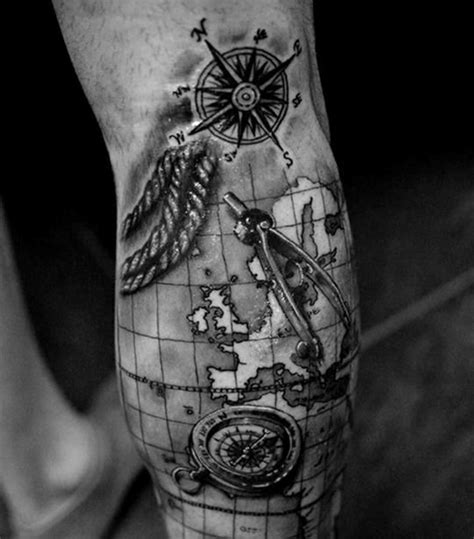 creative map tattoos for the traveling type