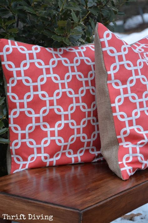 sewing throw pillows how to make pretty quot no sew quot pillows thrift diving