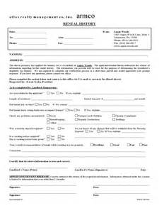 history form template pdf rental history verification form 2 free templates in pdf