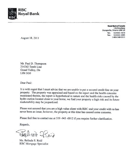 Letter Of Credit Card Declined Property Value Mlwag
