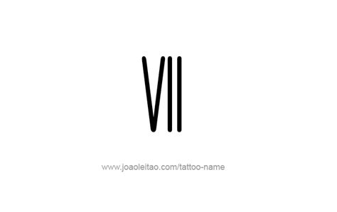 design number definition vii roman numeral tattoo designs tattoos with names
