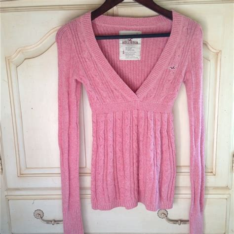 Hollister Pink Babydoll T3010 4 hollister hollister pink v neck babydoll style sweater from sommer s closet on poshmark