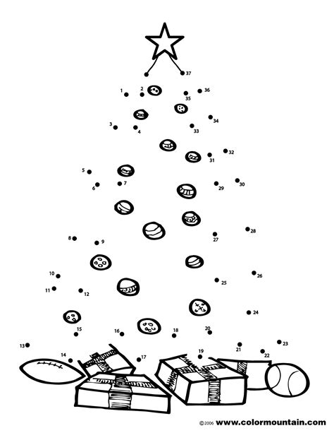 christmas tree activity dot to dot coloring create a