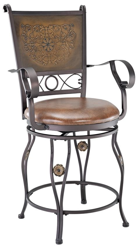 Powell Big And Bar Stools by Powell Big And Copper Sted Back Counter Stool With