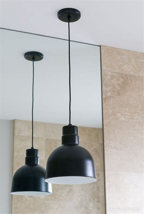 contemporary pendant lights in our master bathroom the