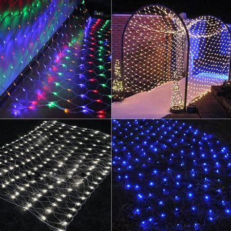 mesh christmas lights outdoor 200 led durable mesh net string lights wedding outdoor 3mx2m ebay