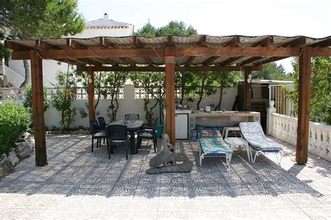 pergola with bamboo cover outdoor oasis pinterest