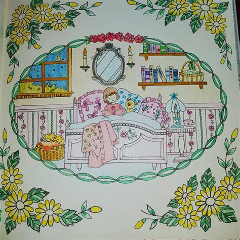 romantic country a fantasy 1250094461 coloured by michelle byrne from romantic country fantasy coloring book by eriy colored with