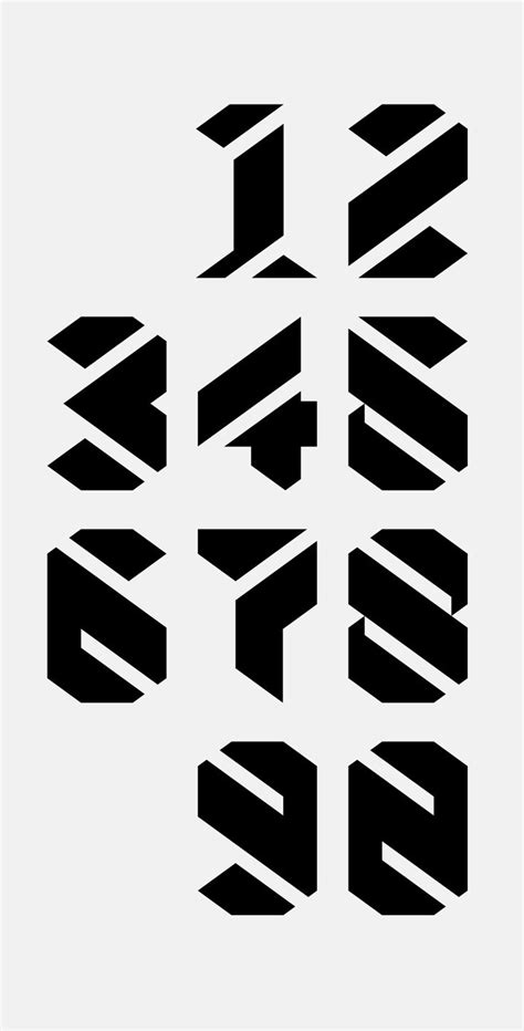 typography numbers numbers designed fonts www pixshark images galleries with a bite