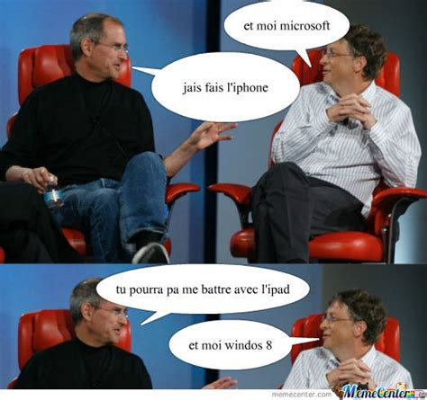 Steve Jobs And Bill Gates Meme - steve jobs and bill gates by ychoox93 meme center