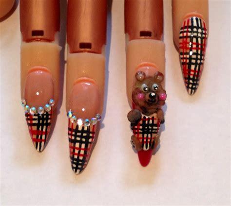 tutorial nail art burberry burberry bear 3d nail art tutorial youtube