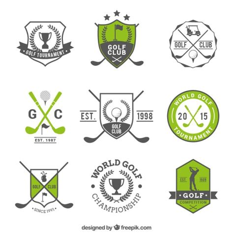 free golf logo design golf badges vector free download