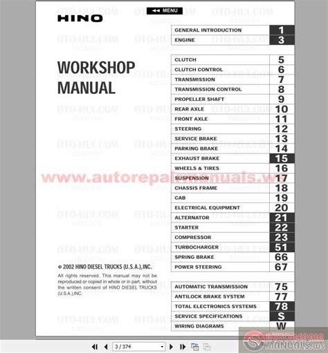 motor repair manual 1988 mitsubishi truck user handbook hino fd fe ff sg engine service manual 2002 auto repair manual forum heavy equipment