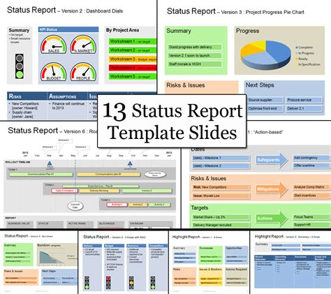 powerpoint templates update status report get your message across on 1 page