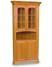 Corner Hutch For Dining Room by Amish Dining Room Deluxe Corner Hutch Amish Dining Room
