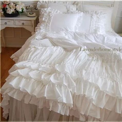 Handmade Quilted Bedspreads - aliexpress buy quilted ruffle bow bedding