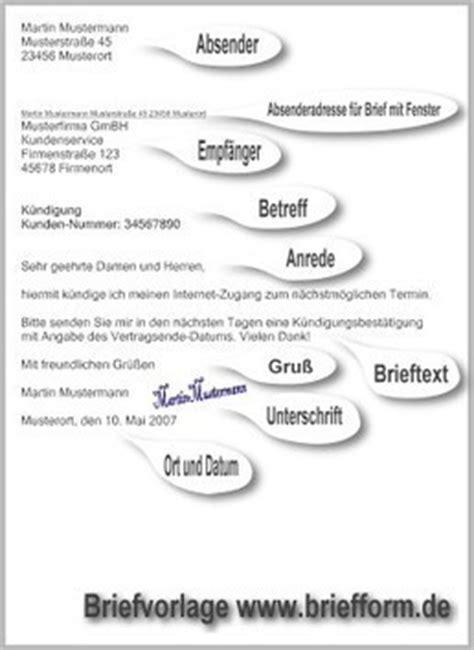 Musterbriefe Vorlagen Briefe De Briefform De Kostenlose Musterbriefe Vor