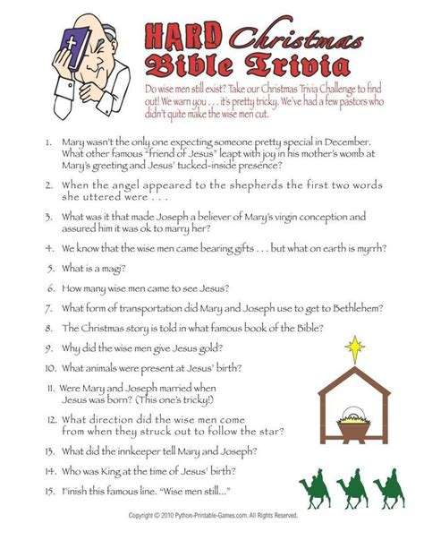 quiz questions difficult christmas christmas hard bible trivia game 6 95