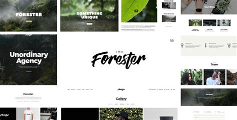 the forester responsive multipages and onepage multi