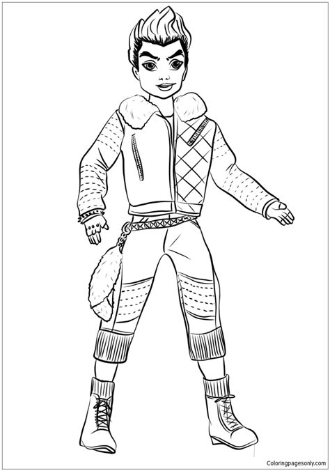 wicked world coloring page descendants wicked world carlos coloring page free