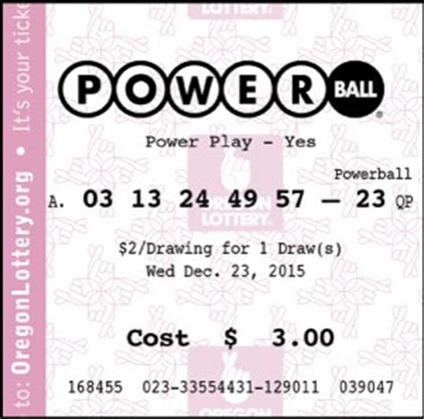 whats power play powerball oregon lottery
