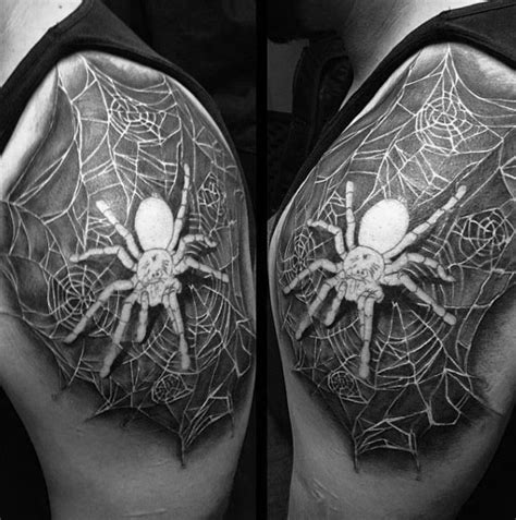 spider web nipple tattoo 70 tarantula designs for spider ink ideas