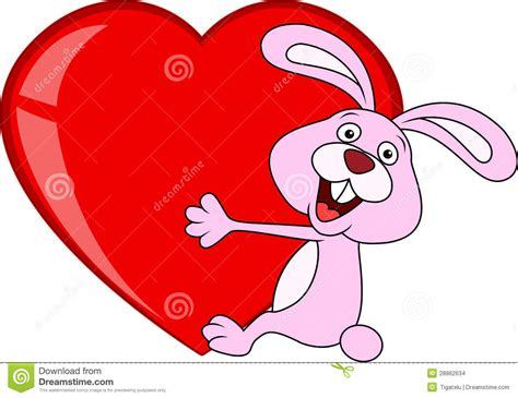 images of love in cartoon rabbit cartoon with love heart vector illustration