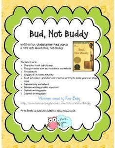 Bud Not Buddy Essay by Activities To Go With The Book Bud Not Buddy Ed Elem Reading Activities