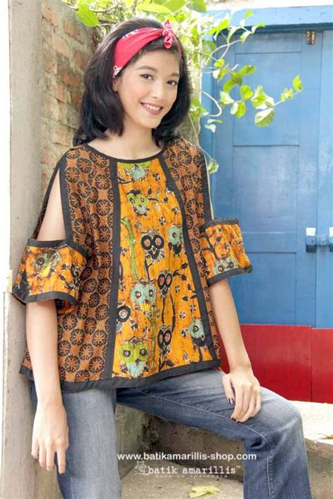 Dress Batik Keris Anak No 4 batik amarillis made in indonesia www batikamarillis shop